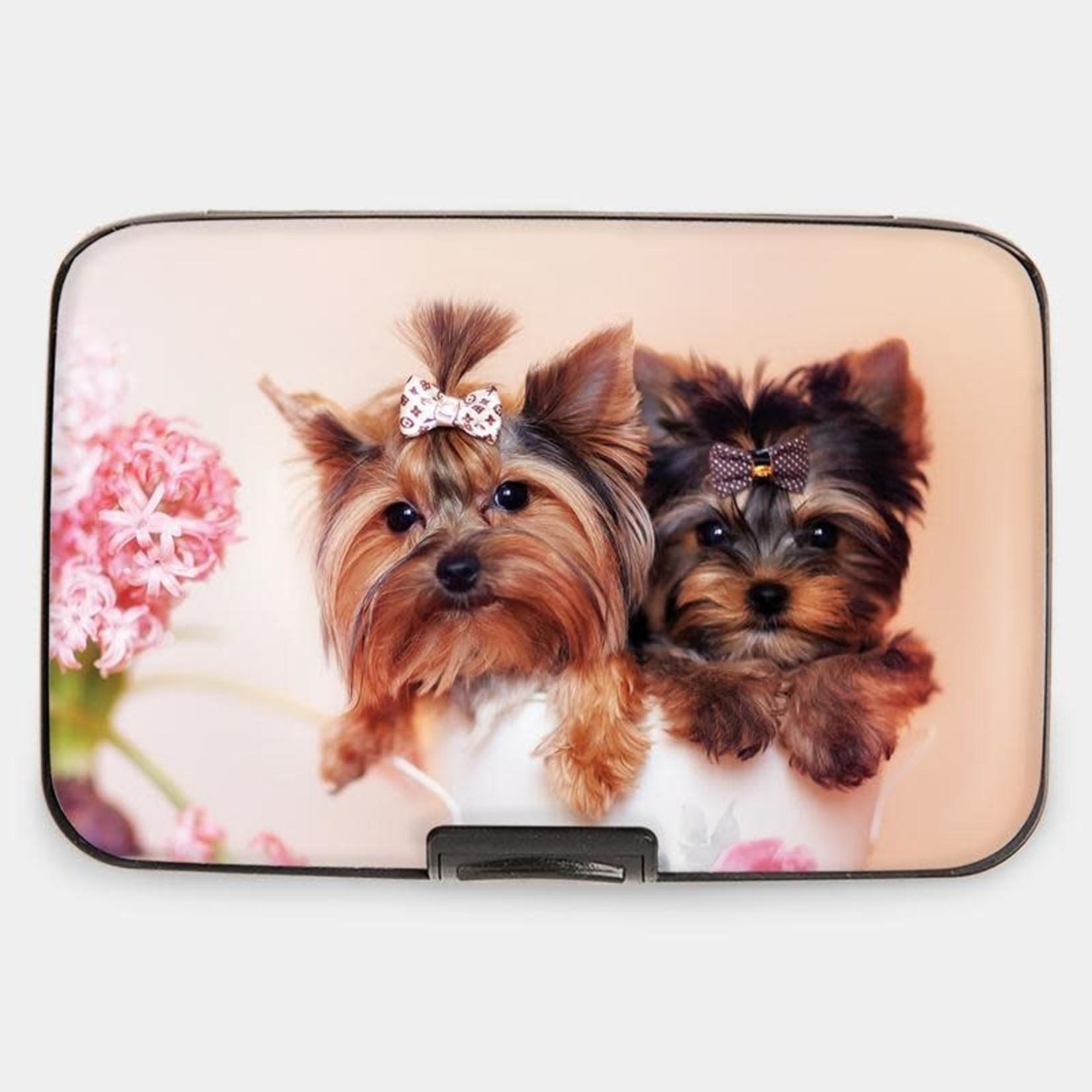 Monarque Armored Wallet - Puppies Yorkie