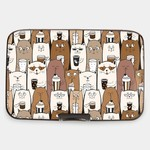 Monarque Armored Wallet - Cocoa Cats