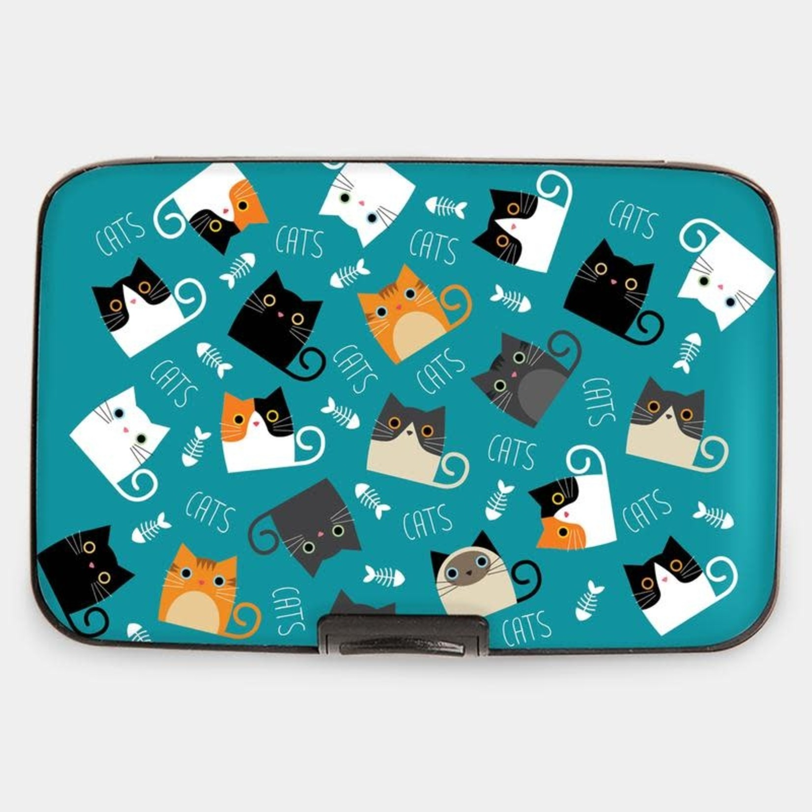 Monarque Armored Wallet - Cats with Fish