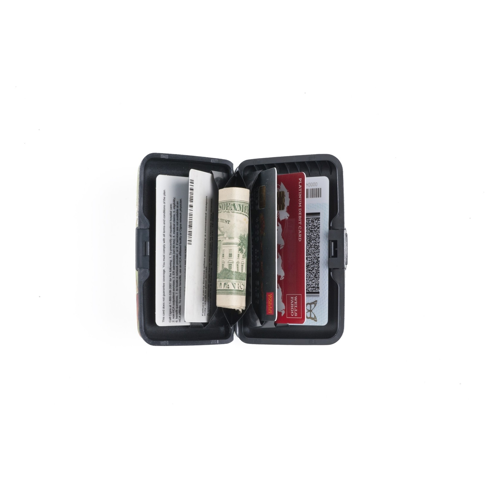 Monarque Armored Wallet - Peonies