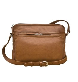 Leather Handbags and Accessories 6333 Antique Saddle - Organizer Bag