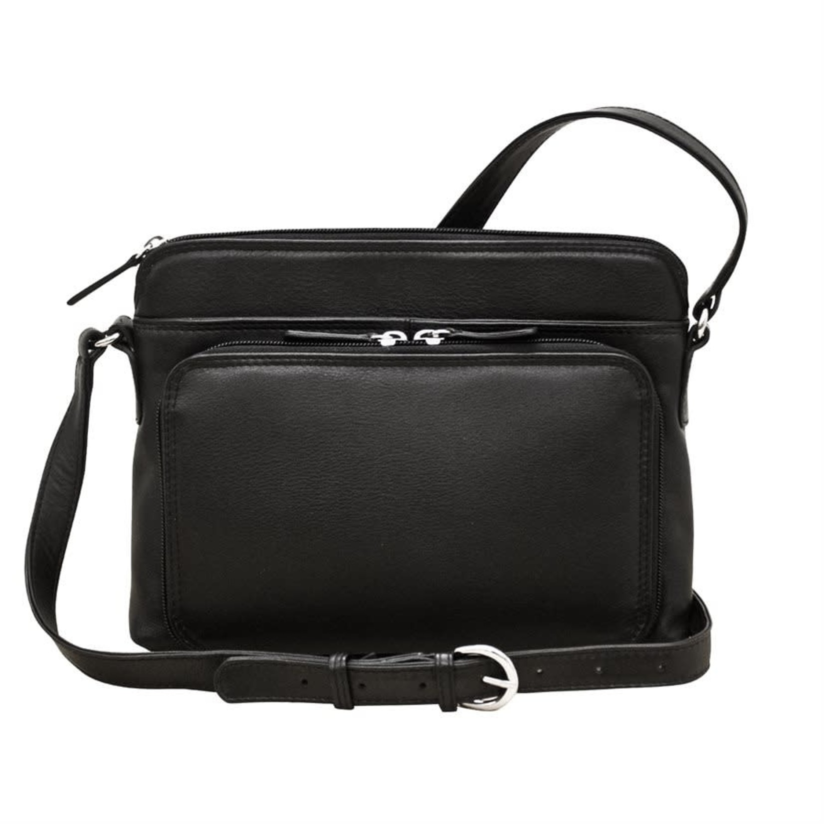 Leather Handbags and Accessories 6333 Black - Organizer Bag