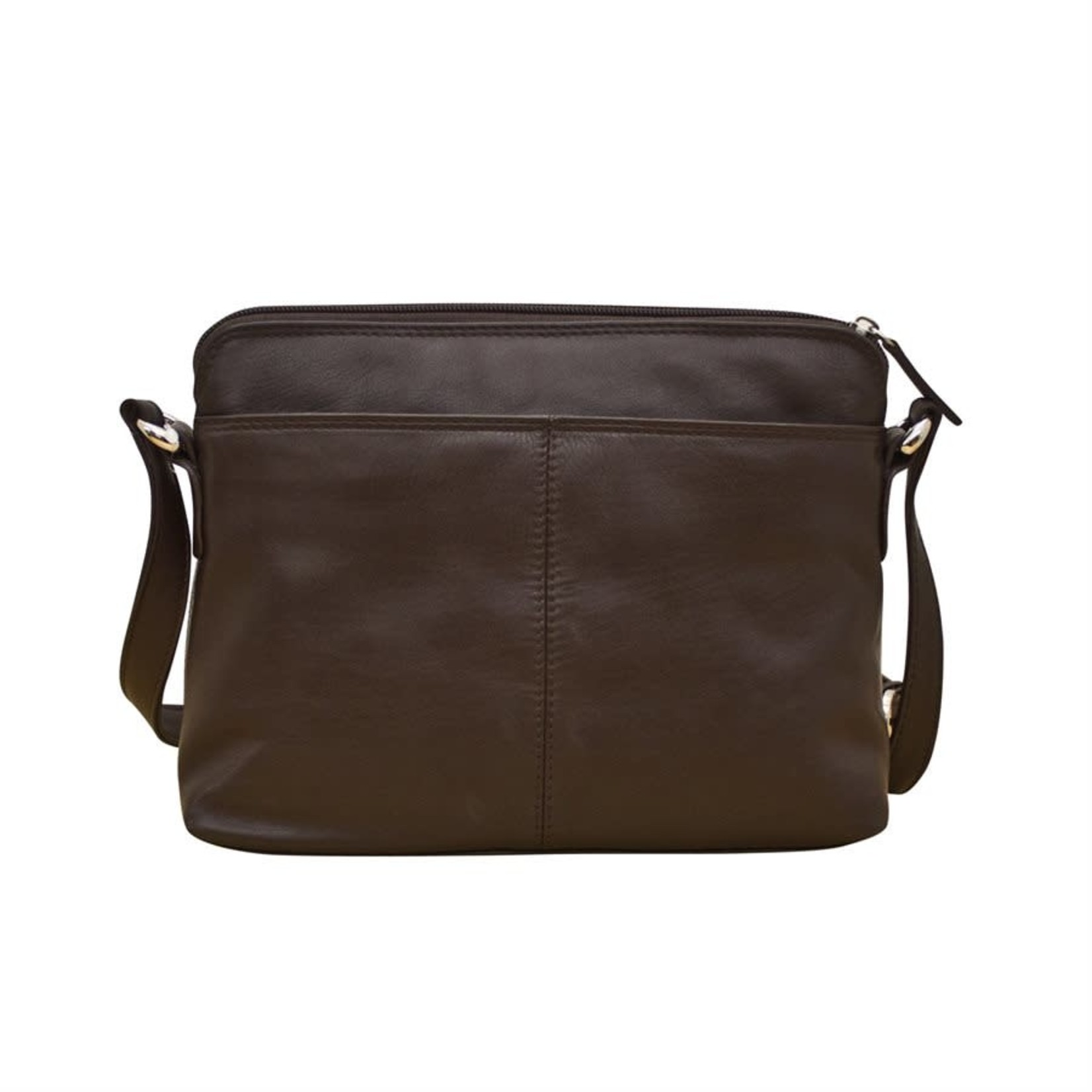 Leather Handbags and Accessories 6333 Brown - Organizer Bag