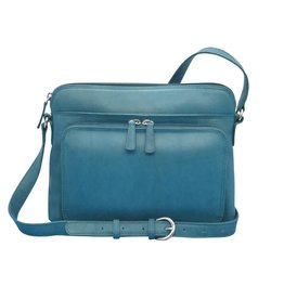 Leather Handbags and Accessories 6333 Jeans Blue - Organizer Bag
