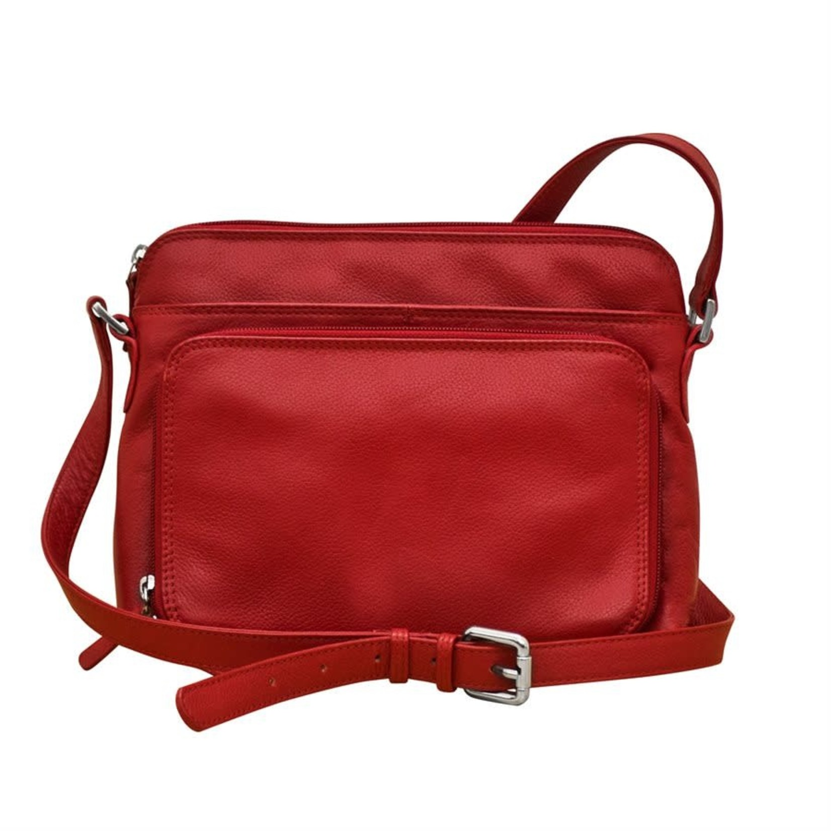 Leather Handbags and Accessories 6333 Red - Organizer Bag