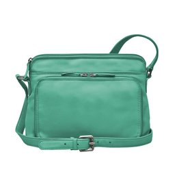 Leather Handbags and Accessories 6333 Turquoise - Organizer Bag