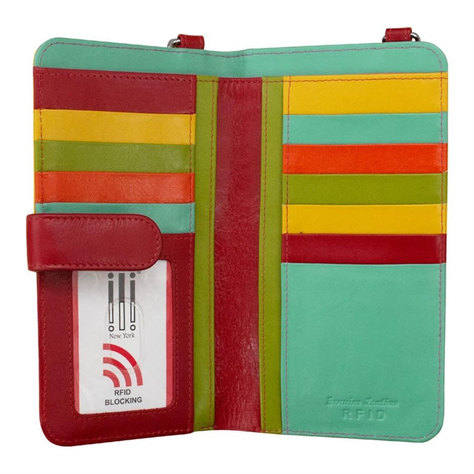 Leather Handbags and Accessories 6363 Citrus - RFID Organizer Crossbody
