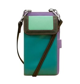 Leather Handbags and Accessories 6363 Midnight - RFID Organizer Crossbody