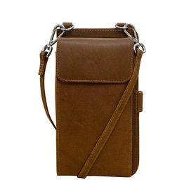 Leather Handbags and Accessories 6363 Toffee - RFID Organizer Crossbody