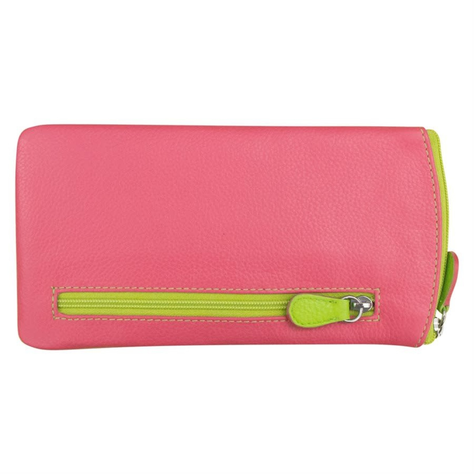 Leather Handbags and Accessories 6462 Hot Pink/Leaf - Leather Eyeglass Case