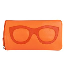 Leather Handbags and Accessories 6462 Papaya/Orange - Leather Eyeglass Case