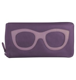 Leather Handbags and Accessories 6462 Planet Purple - Leather Eyeglass Case