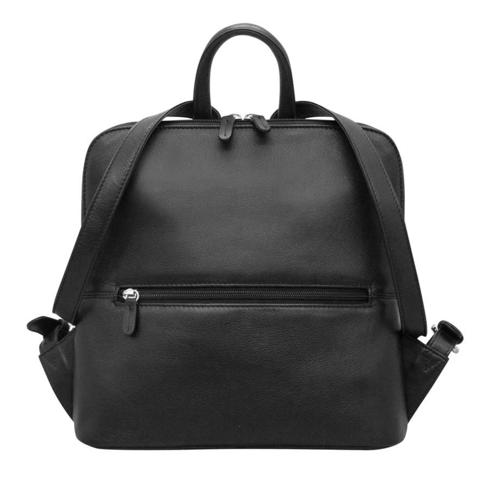 Leather Handbags and Accessories 6503 Black - Small Backpack