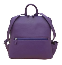 Leather Handbags and Accessories 6503 Purple - Small Backpack
