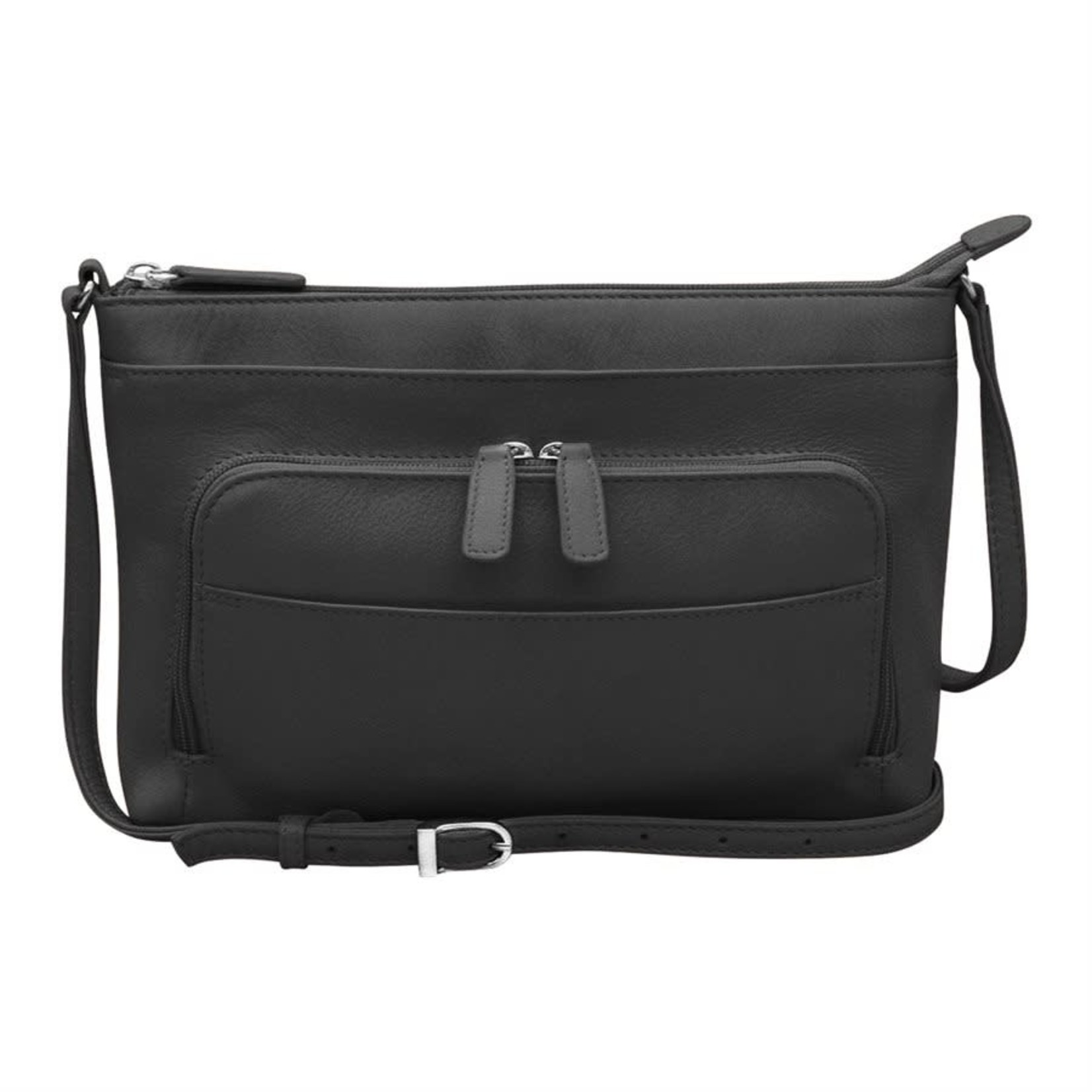 Leather Handbags and Accessories 6923 Black - The Traveler Crossbody