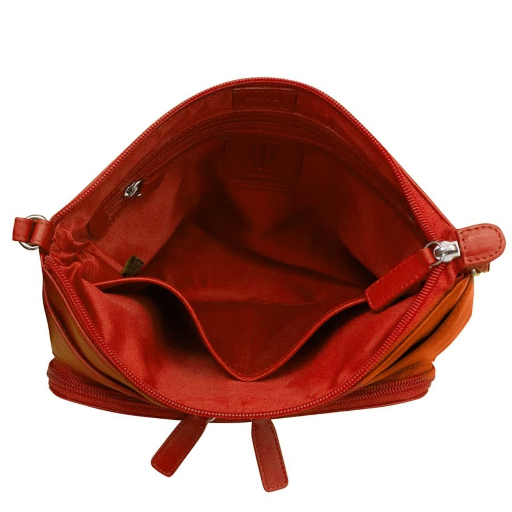Leather Handbags and Accessories 6923 Red - The Traveler Crossbody