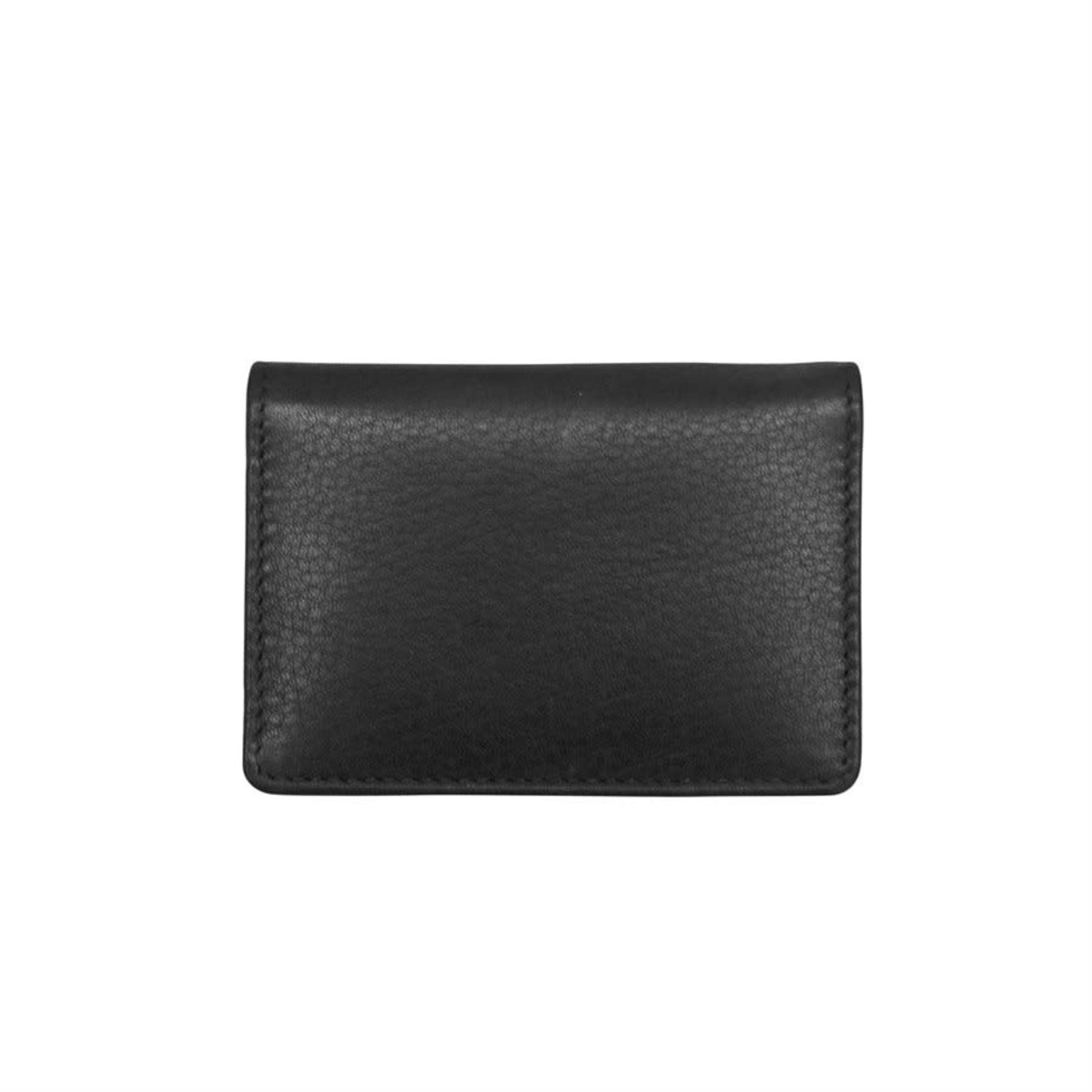 Leather Handbags and Accessories 7111 Black - Business Card Case