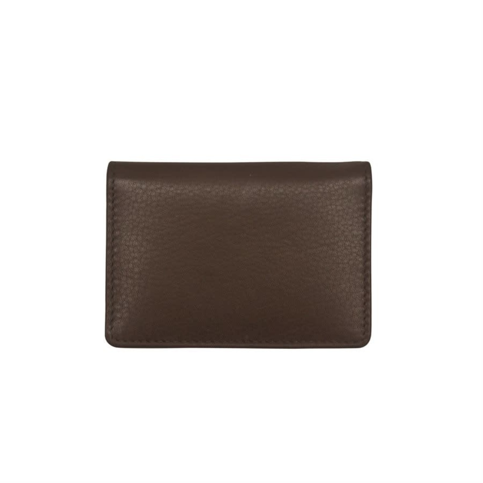 Leather Handbags and Accessories 7111 Brown - Business Card Case
