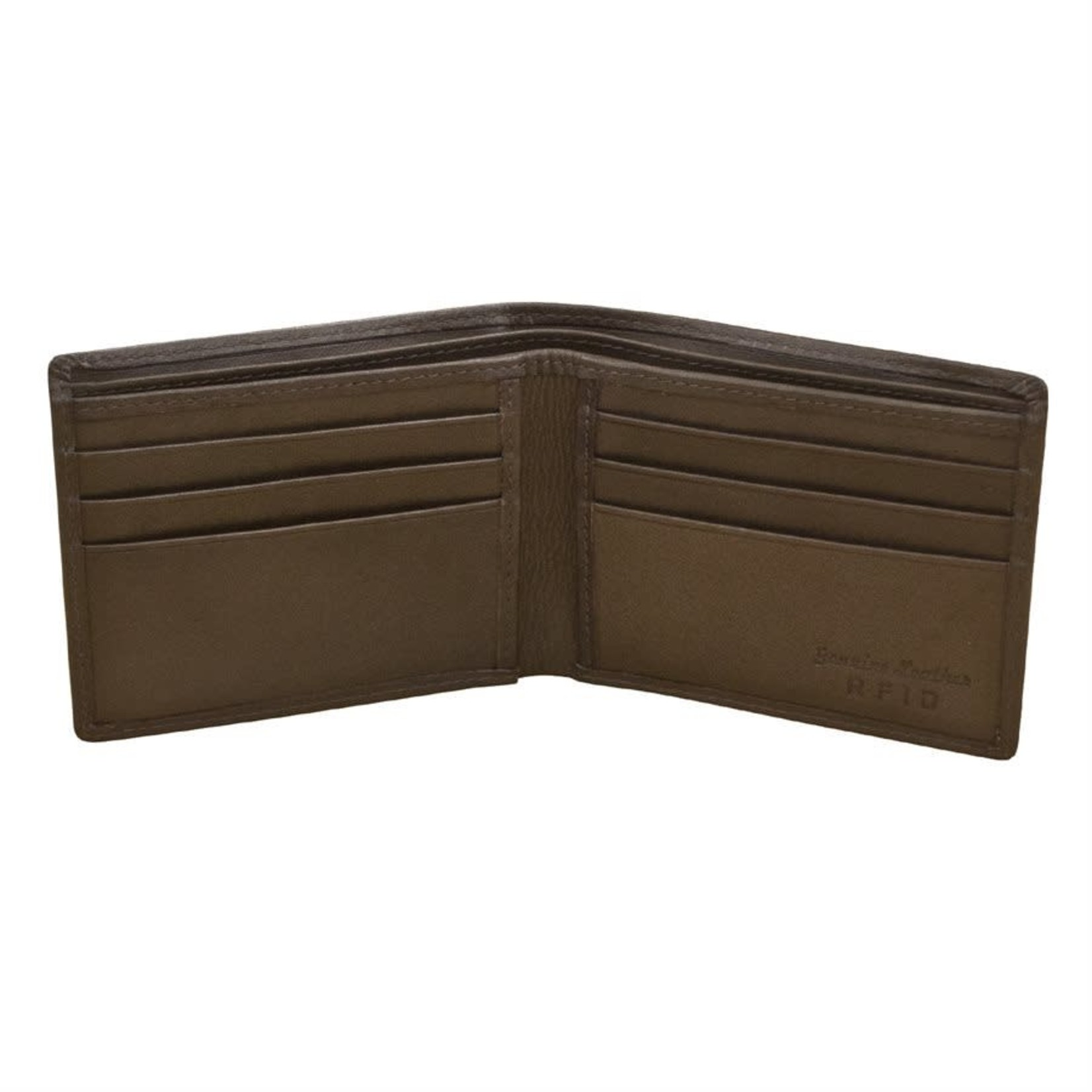 Leather Handbags and Accessories 7120 Brown - RFID BiFold Wallet