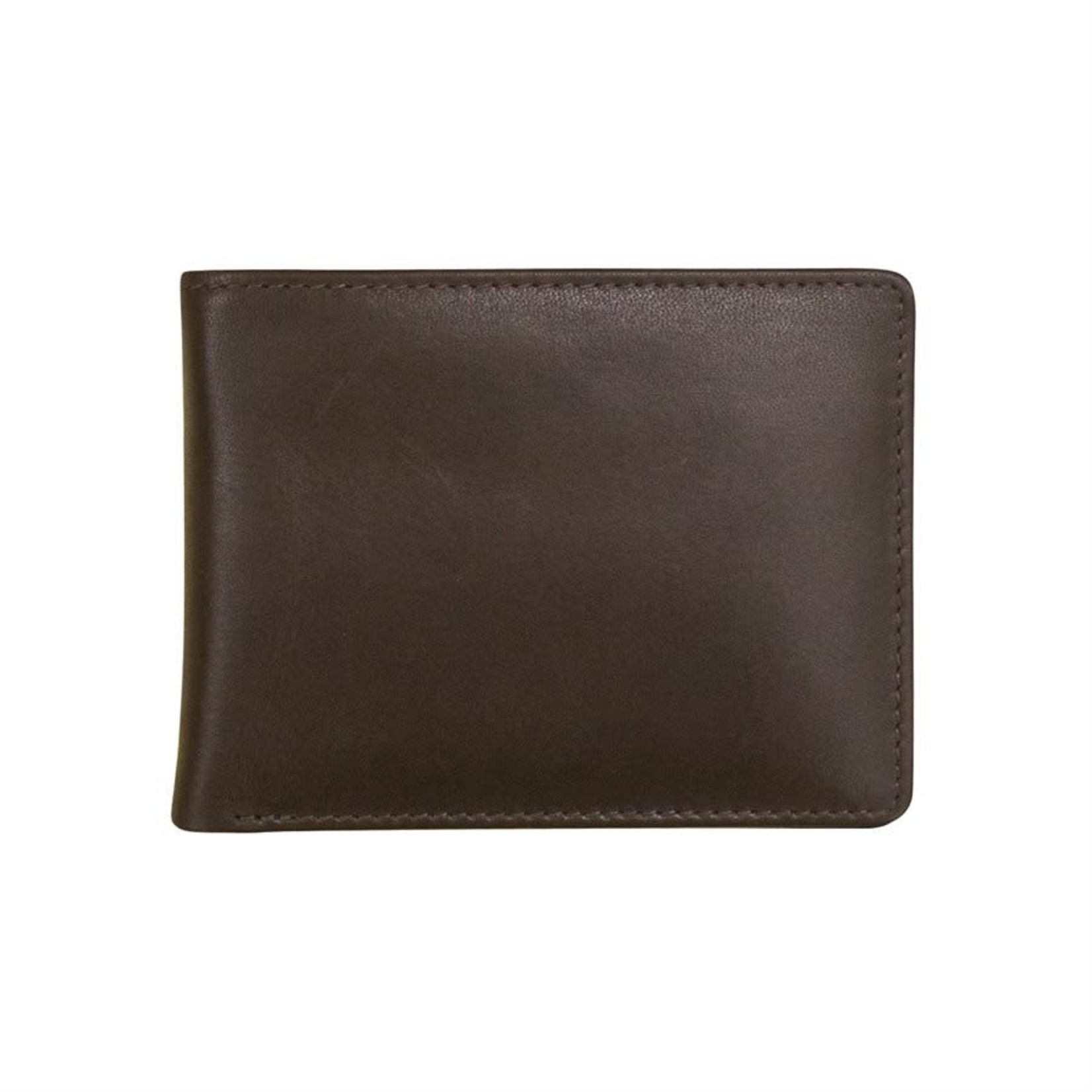 Leather Handbags and Accessories 7150 Brown - RFID BiFold Wallet