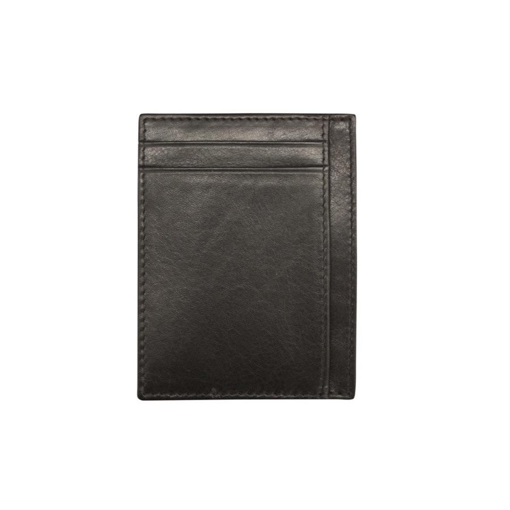 Leather Handbags and Accessories 7202 Black - RFID Mini Card Holder