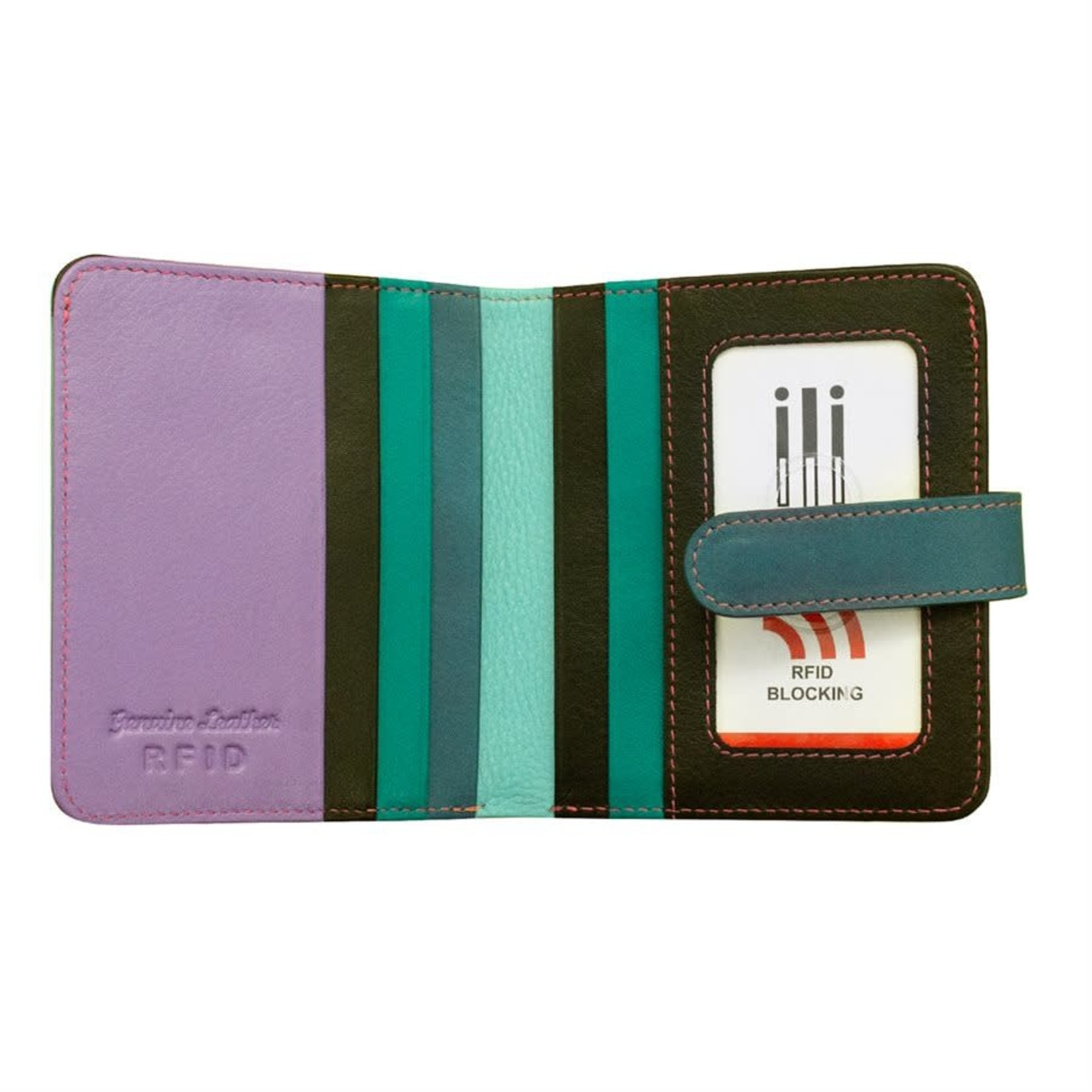 Leather Handbags and Accessories 7301 Midnight - RFID Small Wallet