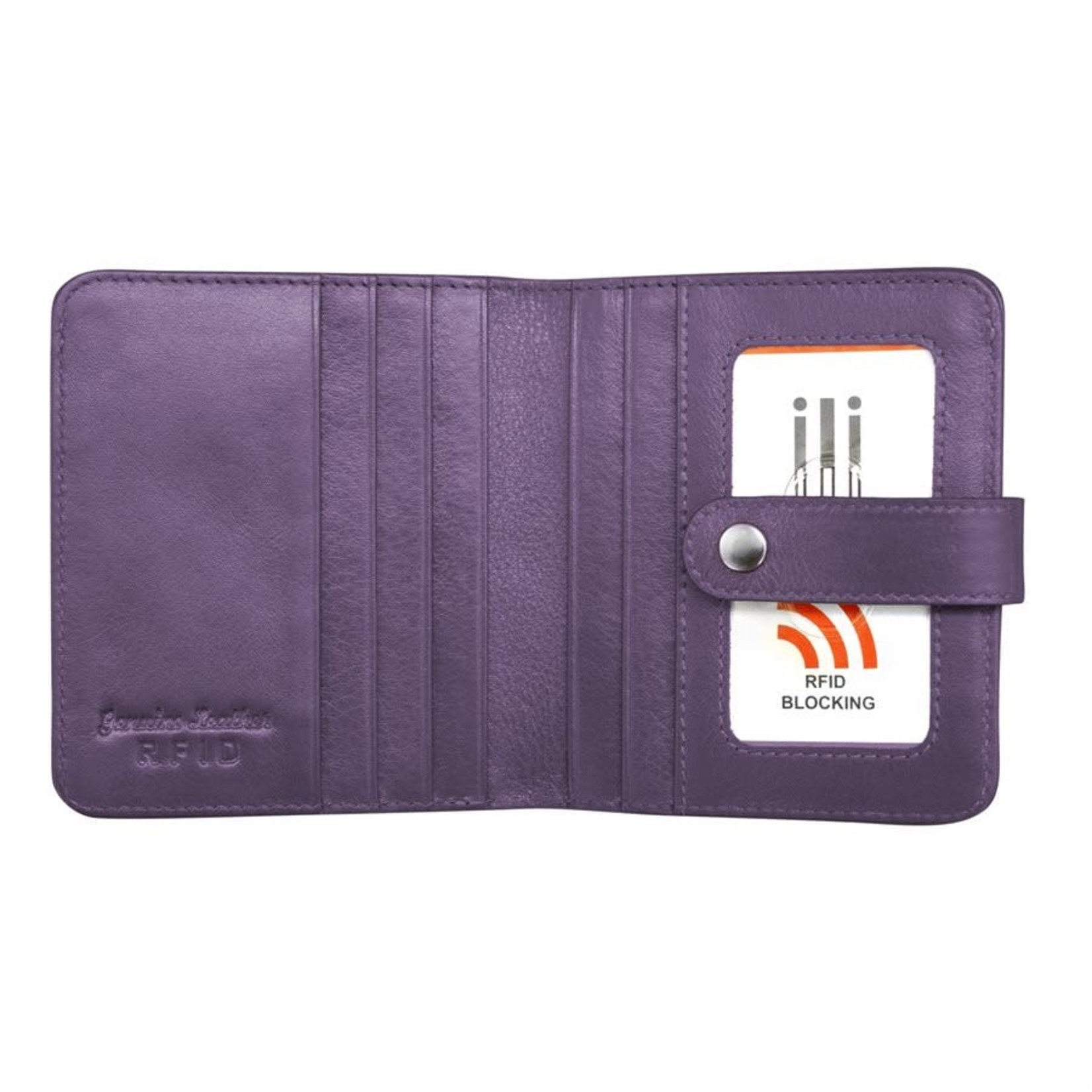 Leather Handbags and Accessories 7301 Purple - RFID Small Wallet