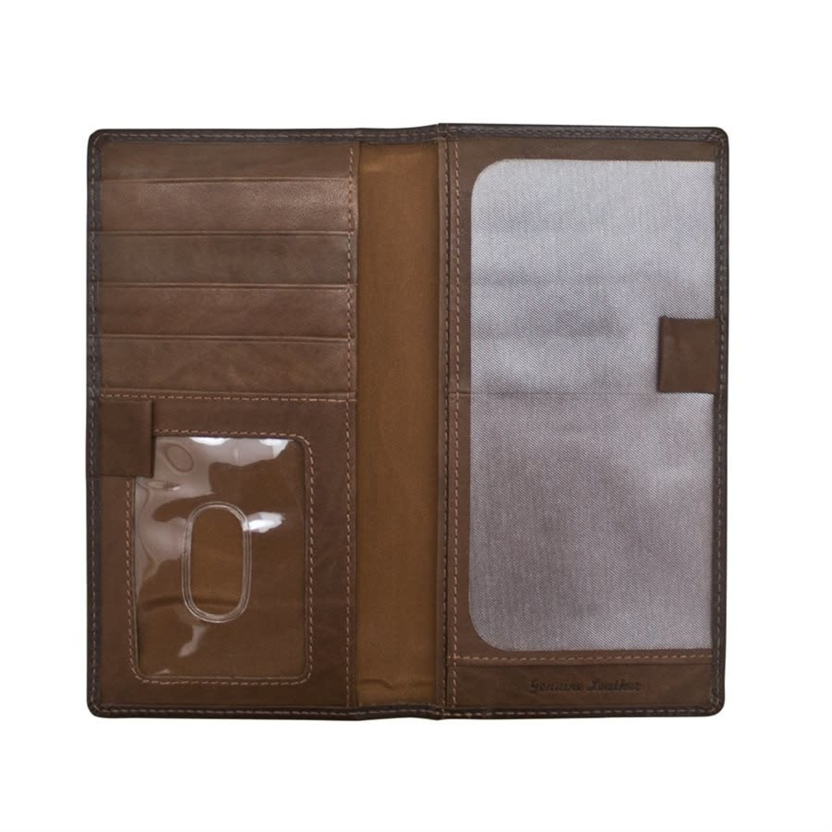 Leather Handbags and Accessories 7406 Brown/Toffee - RFID Checkbook Cover