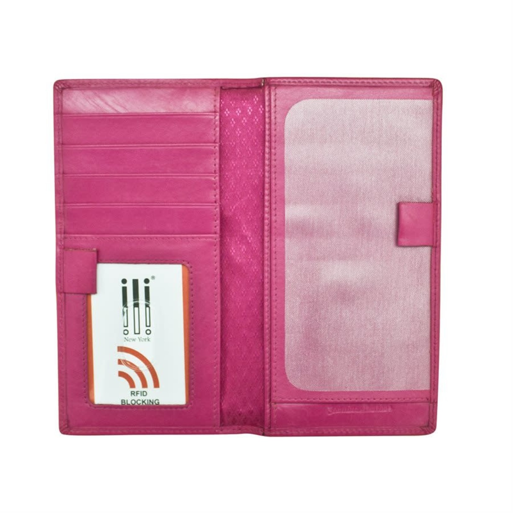 Leather Handbags and Accessories 7406 Fab Fuchsia - RFID Checkbook Cover