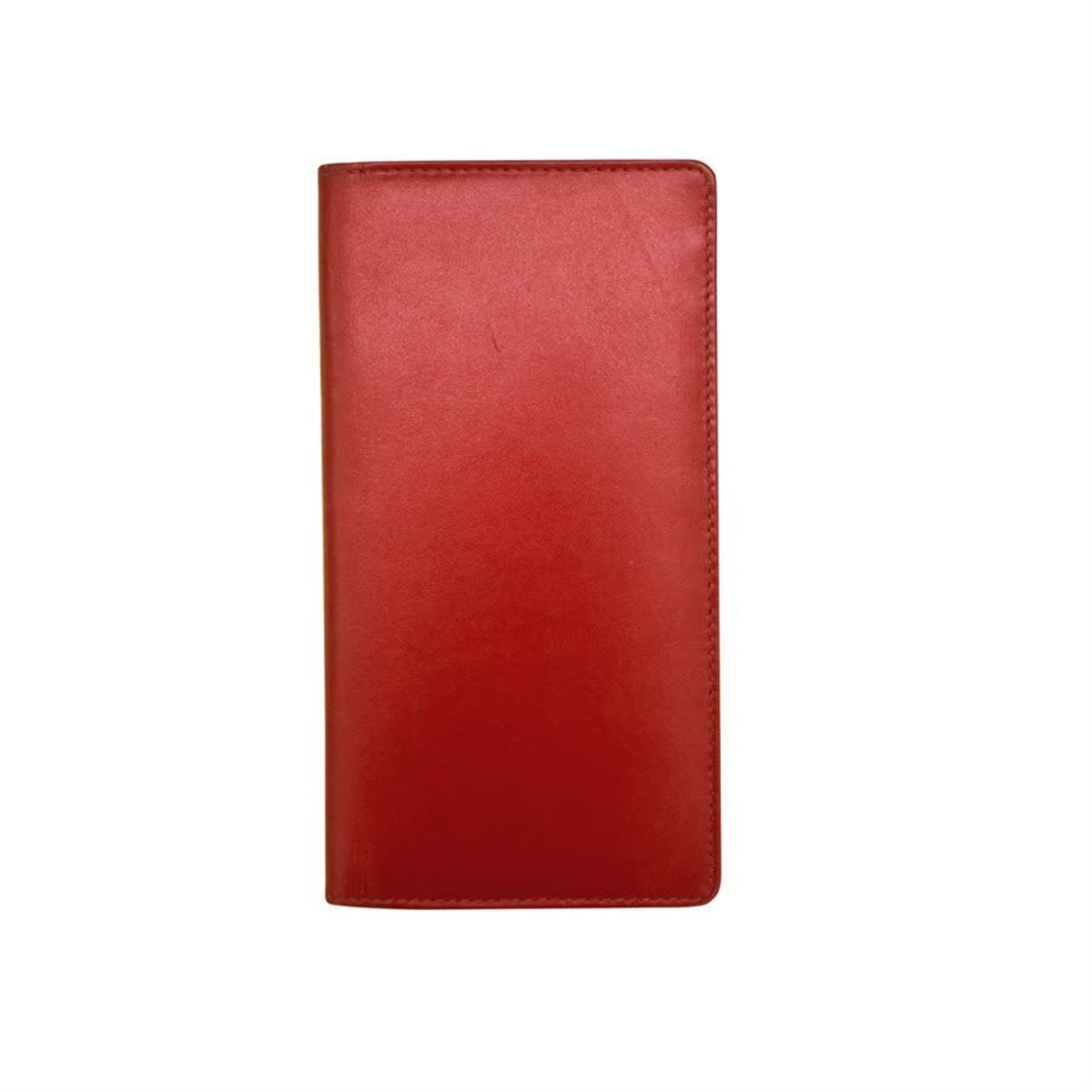 Leather Handbags and Accessories 7406 Red - RFID Checkbook Cover