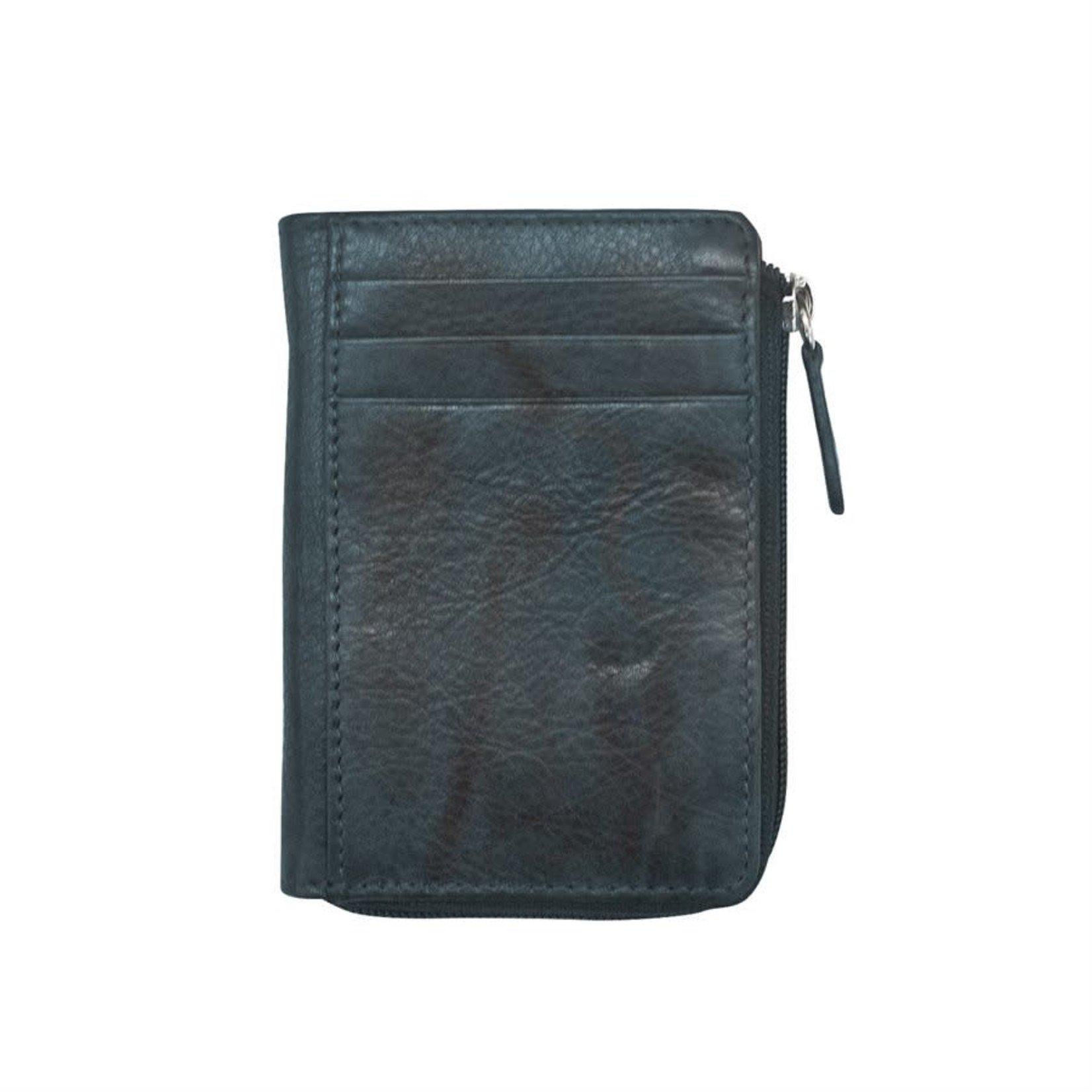 Leather Handbags and Accessories 7411 Indigo - RFID CC ID Holder