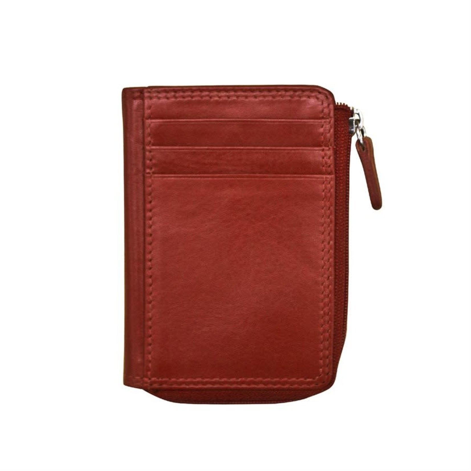 Leather Handbags and Accessories 7411 Red - RFID CC ID Holder