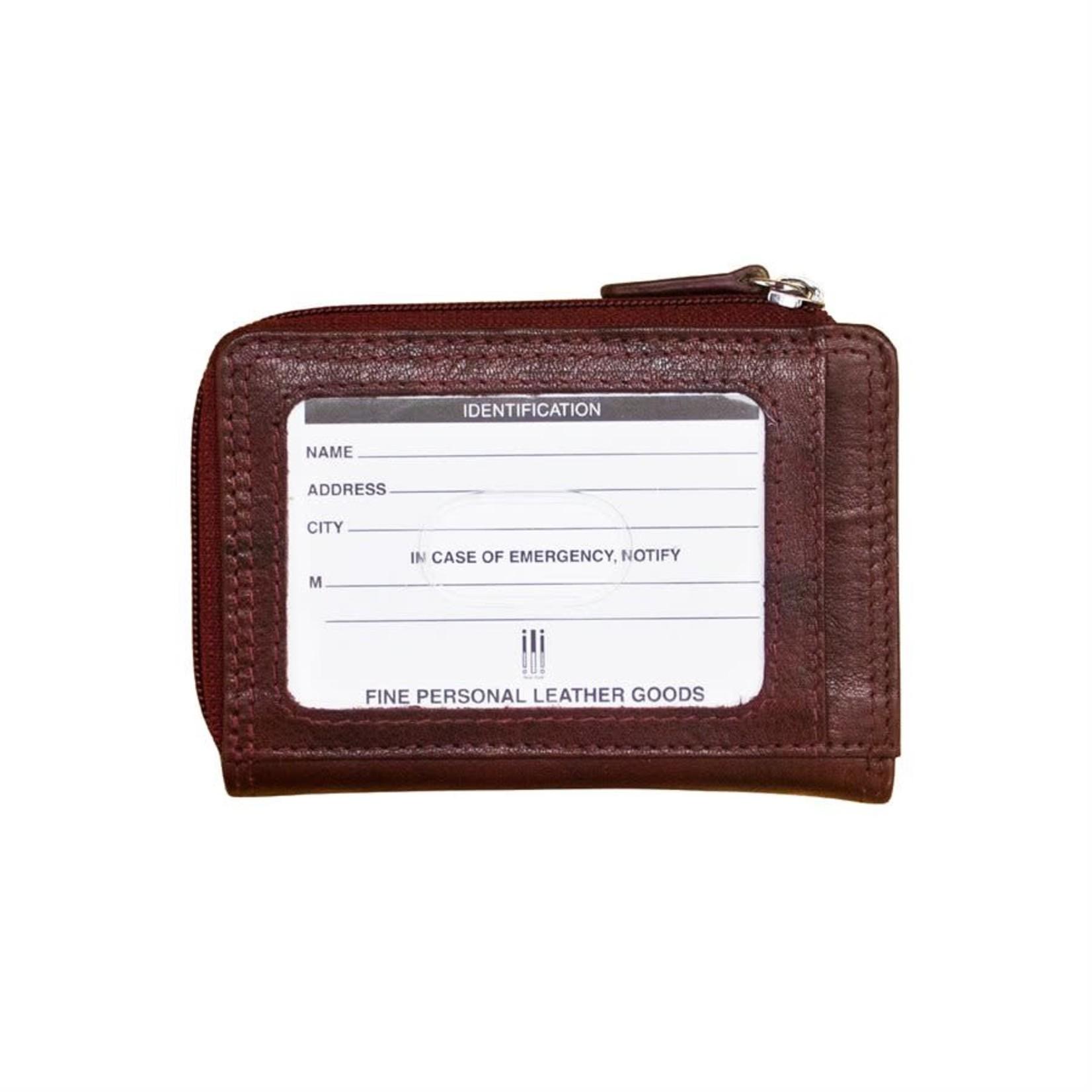 Leather Handbags and Accessories 7411 Redwood - RFID CC ID Holder