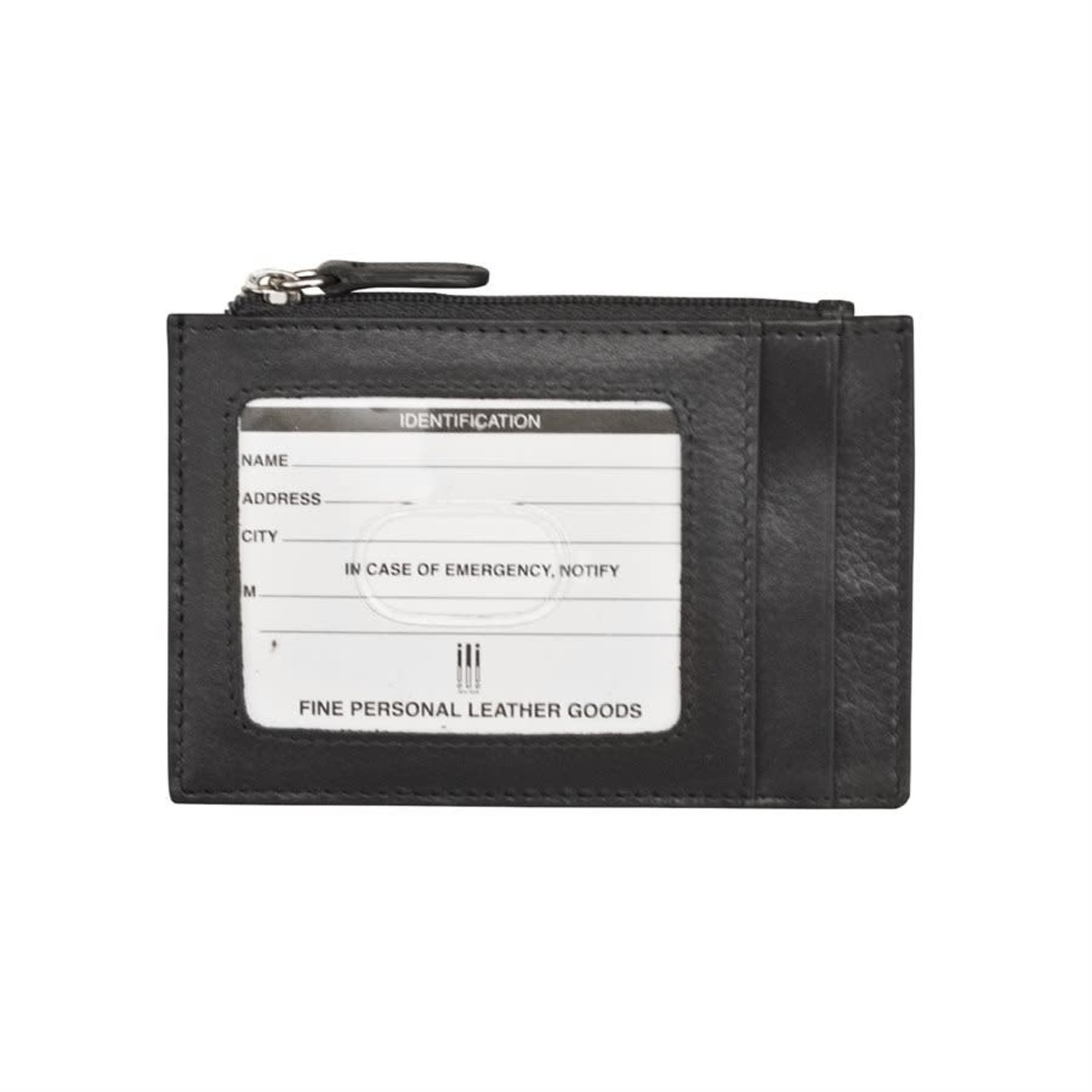 Leather Handbags and Accessories 7416 Black - RFID Card Holder