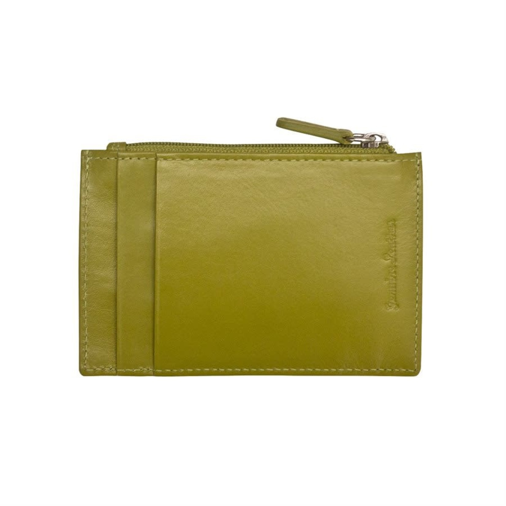 Leather Handbags and Accessories 7416 Moss Green - RFID Card Holder