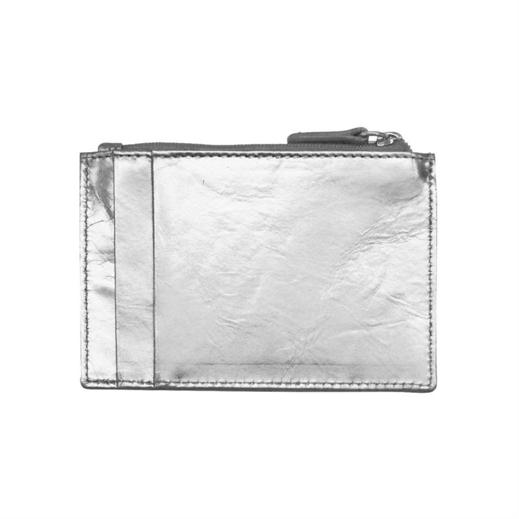 Leather Handbags and Accessories 7416 Silver - RFID Card Holder