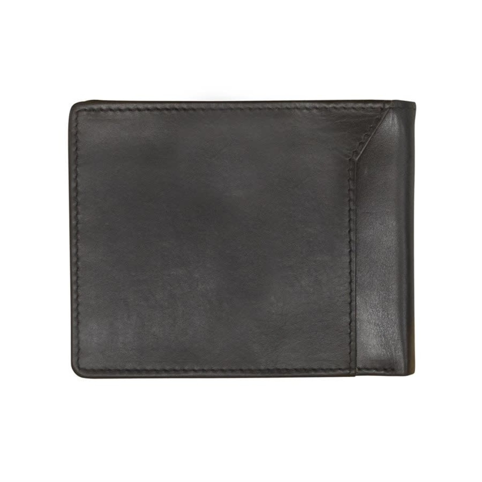 Leather Handbags and Accessories 7720 Black - RFID BiFold Wallet