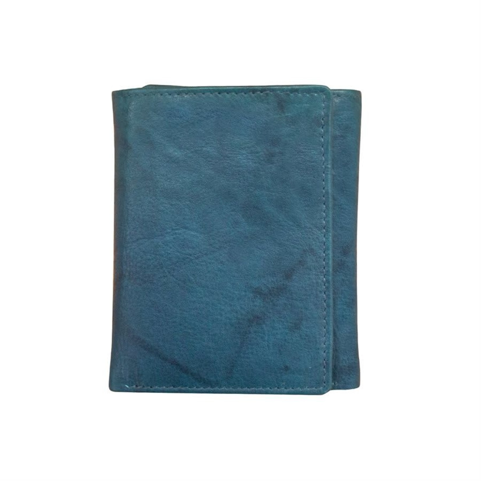 Leather Handbags and Accessories 7730 Jeans Blue - RFID TriFold Wallet