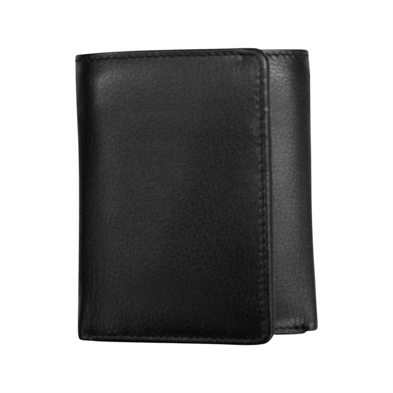 Leather Handbags and Accessories 7733 Black - RFID TriFold Wallet