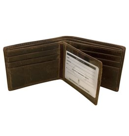 Leather Handbags and Accessories 7746 Mens Wallet - Distressed Bark
