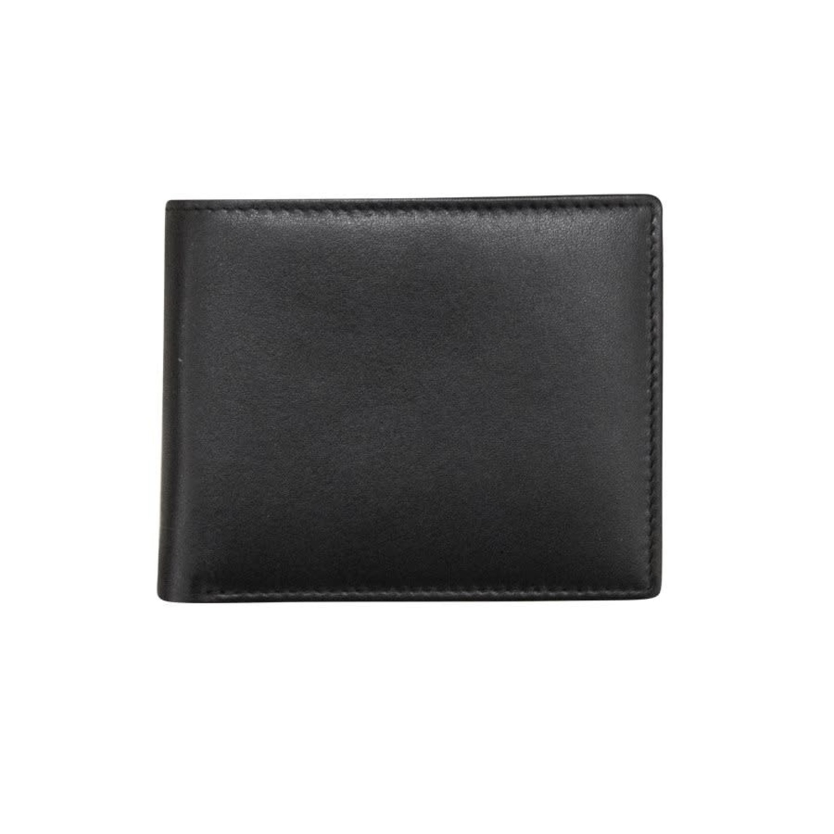 Leather Handbags and Accessories 7751 Black - RFID BiFold Wallet