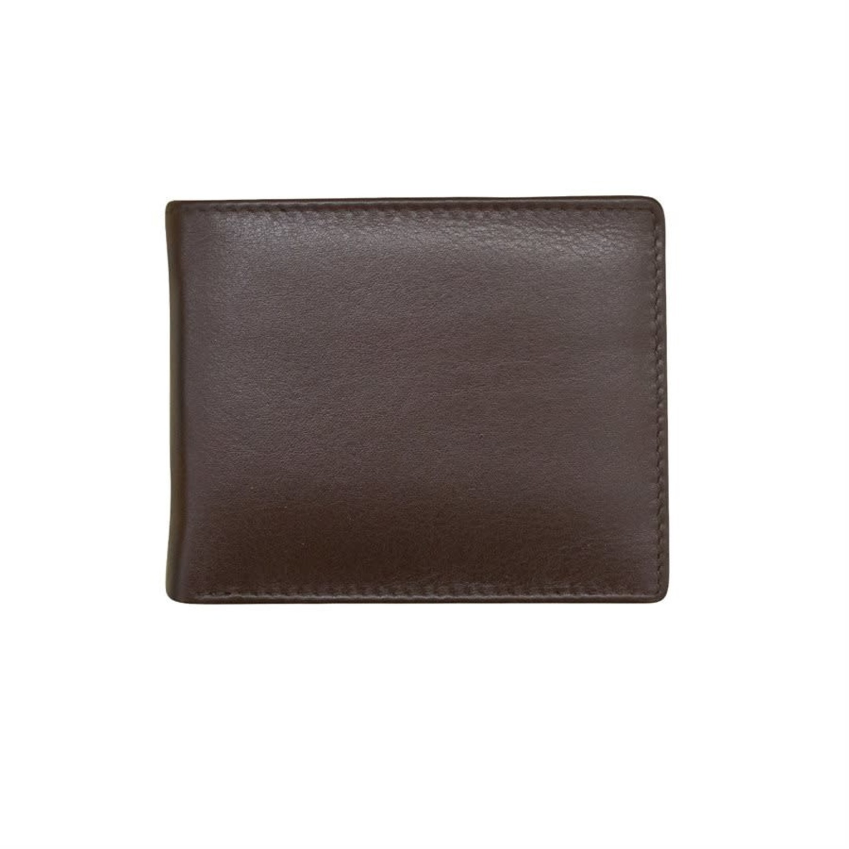 Leather Handbags and Accessories 7751 Brown - RFID BiFold Wallet