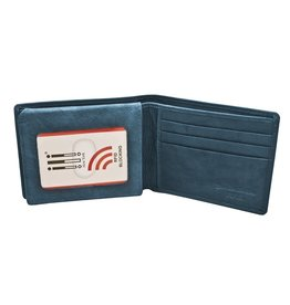 Leather Handbags and Accessories 7751 Jeans Blue - RFID BiFold Wallet