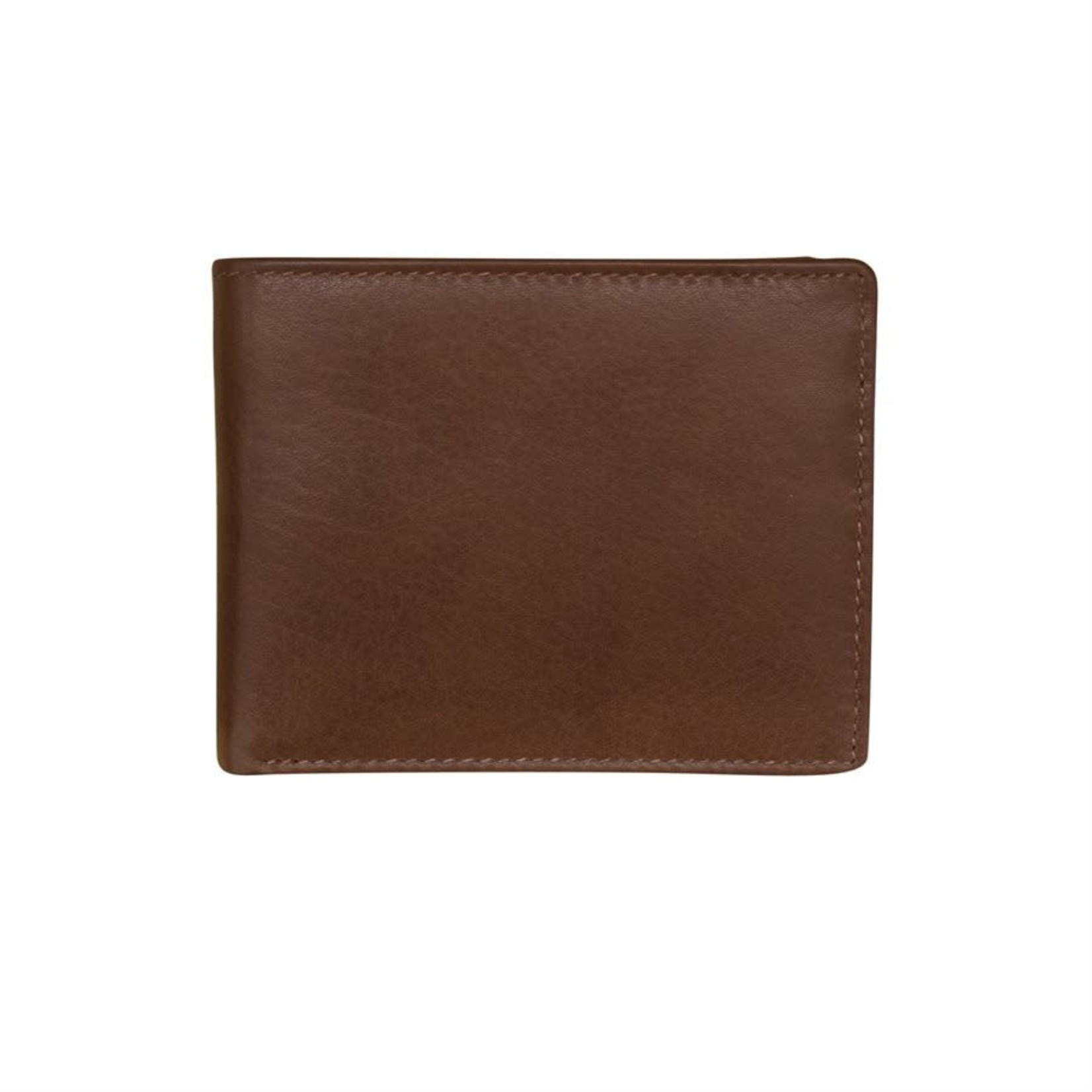 Leather Handbags and Accessories 7751 Toffee - RFID BiFold Wallet