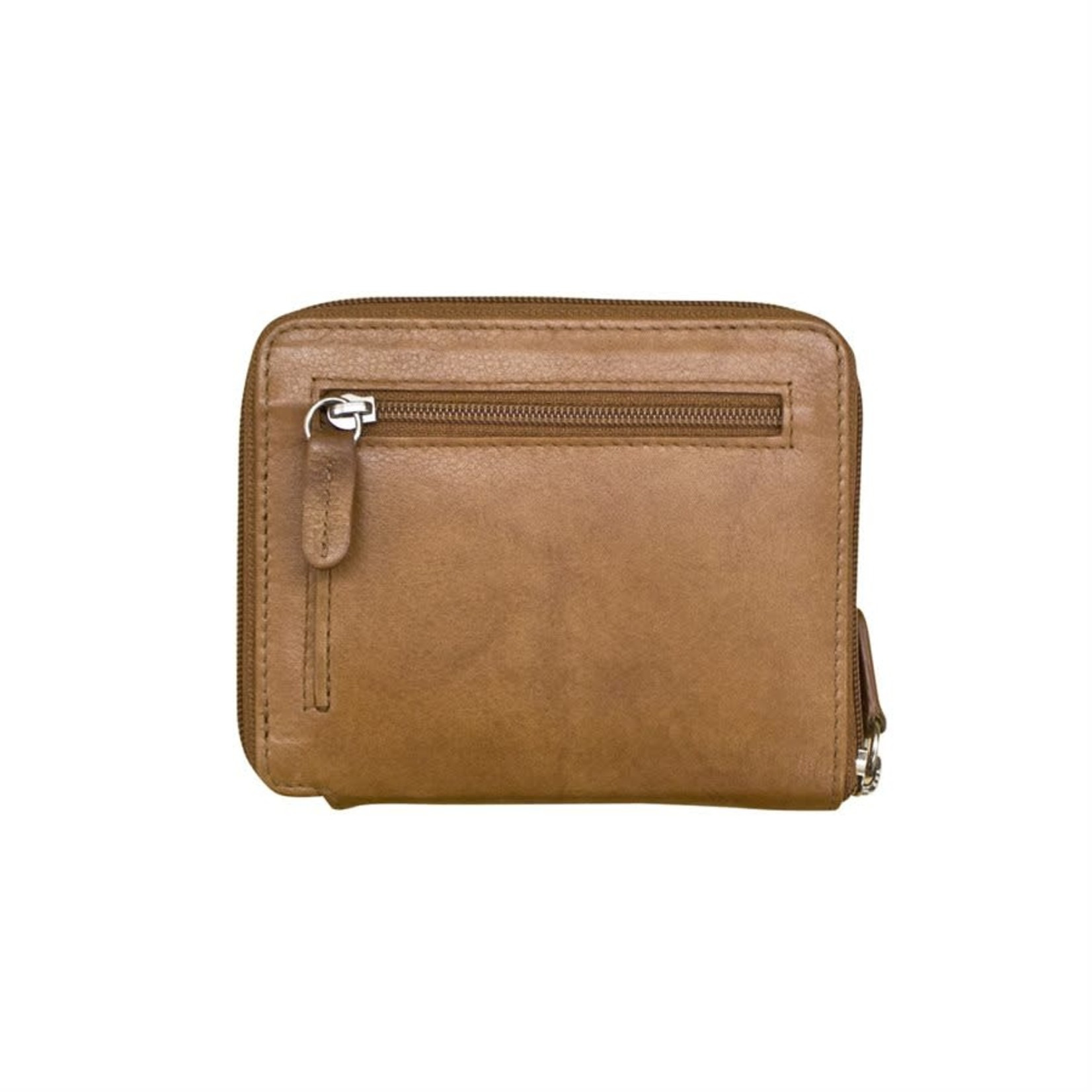 Leather Handbags and Accessories 7859 Antique Saddle - RFID Zip Around Wallet