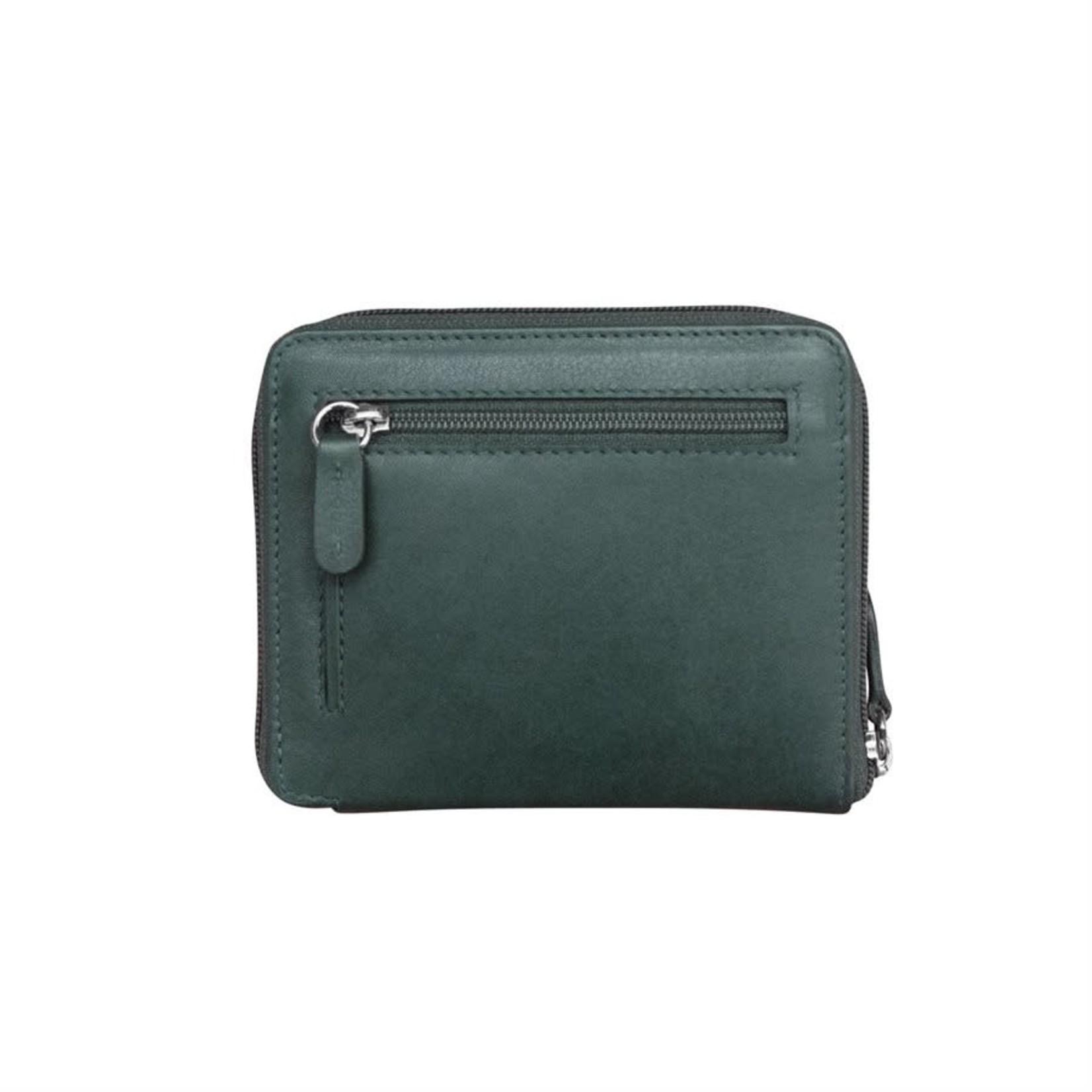 Leather Handbags and Accessories 7859 Indigo - RFID Zip Around Wallet