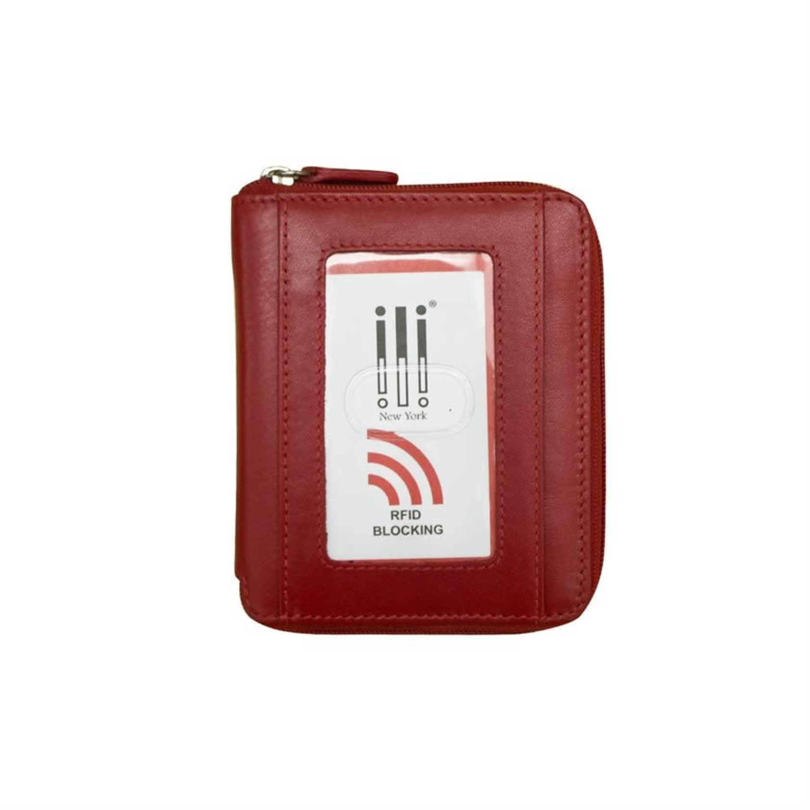 Leather Handbags and Accessories 7859 Red - RFID Zip Around Wallet