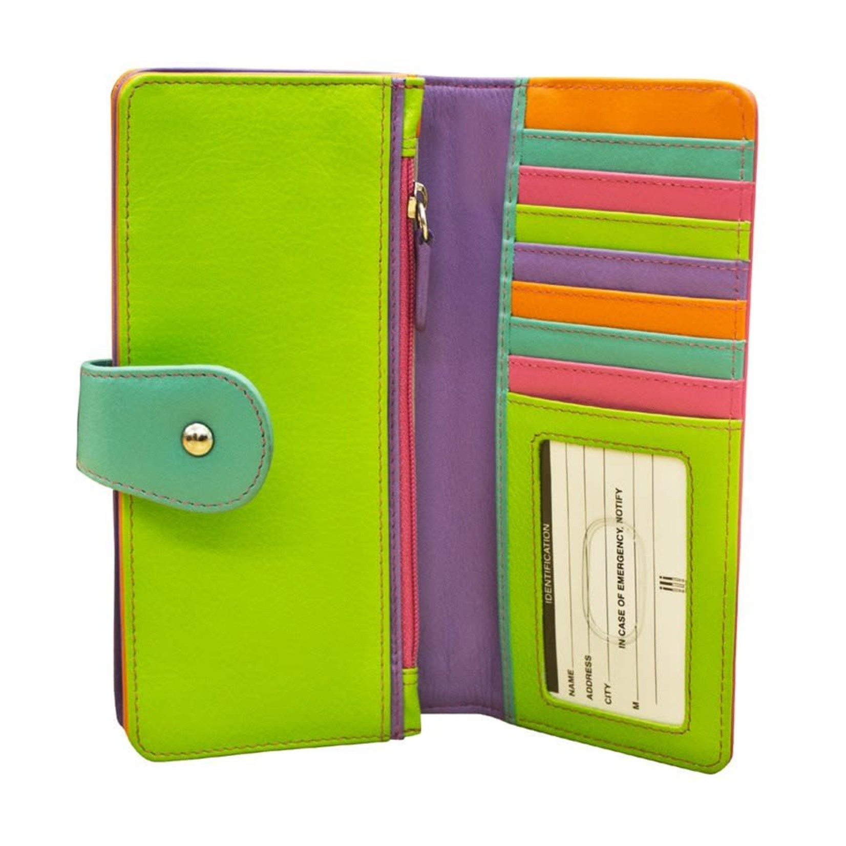 Leather Handbags and Accessories 7875 Palm Beach - Wallet w/Tab Closure