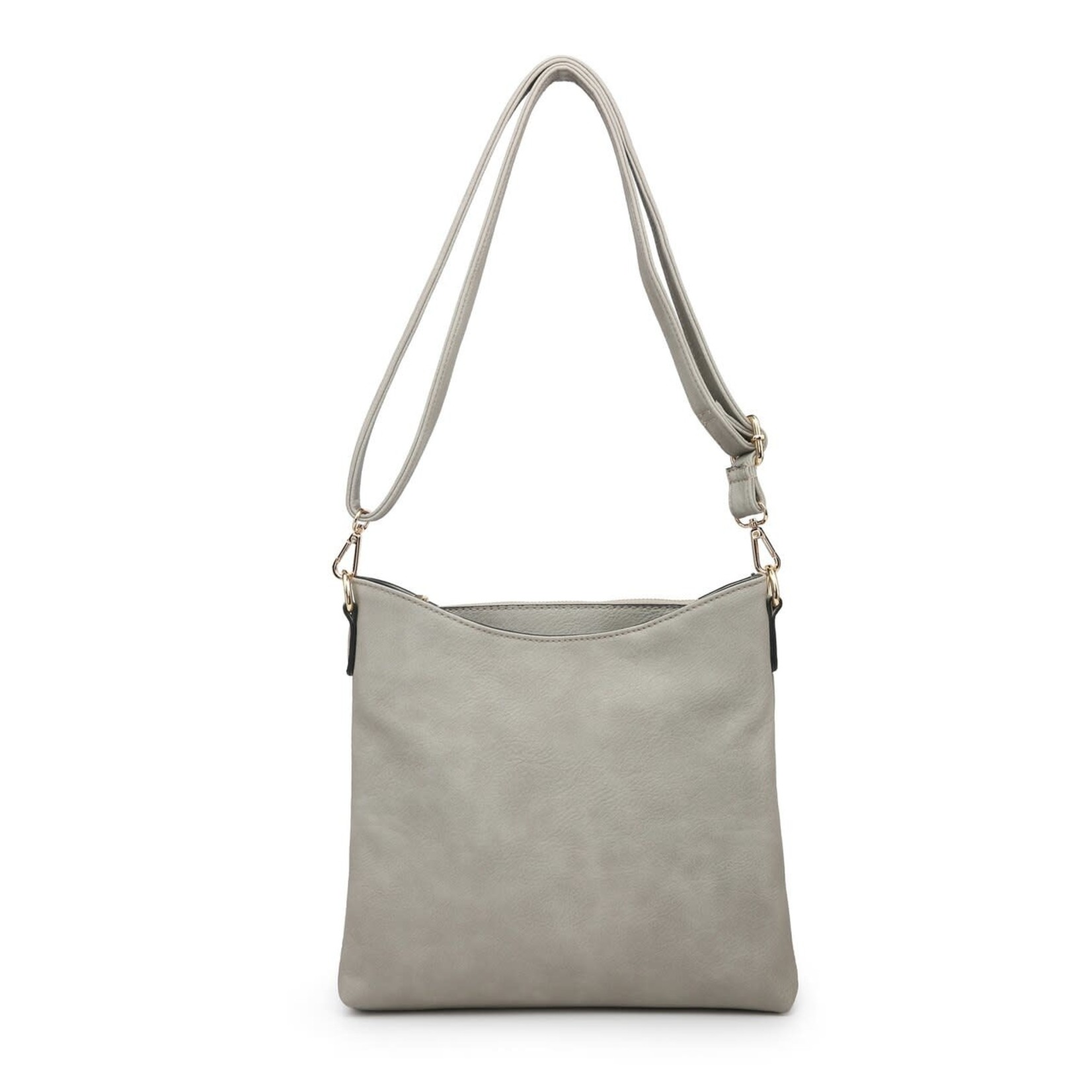Jen & Co M1765-LGY:  Emma Crossbody - Light Grey