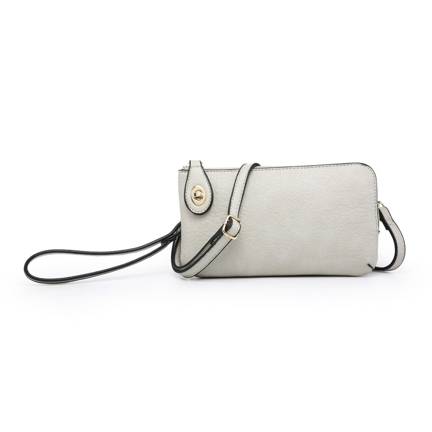 Jen & Co M1818-BONE:  Kendall Crossbody / Wristlet - Bone